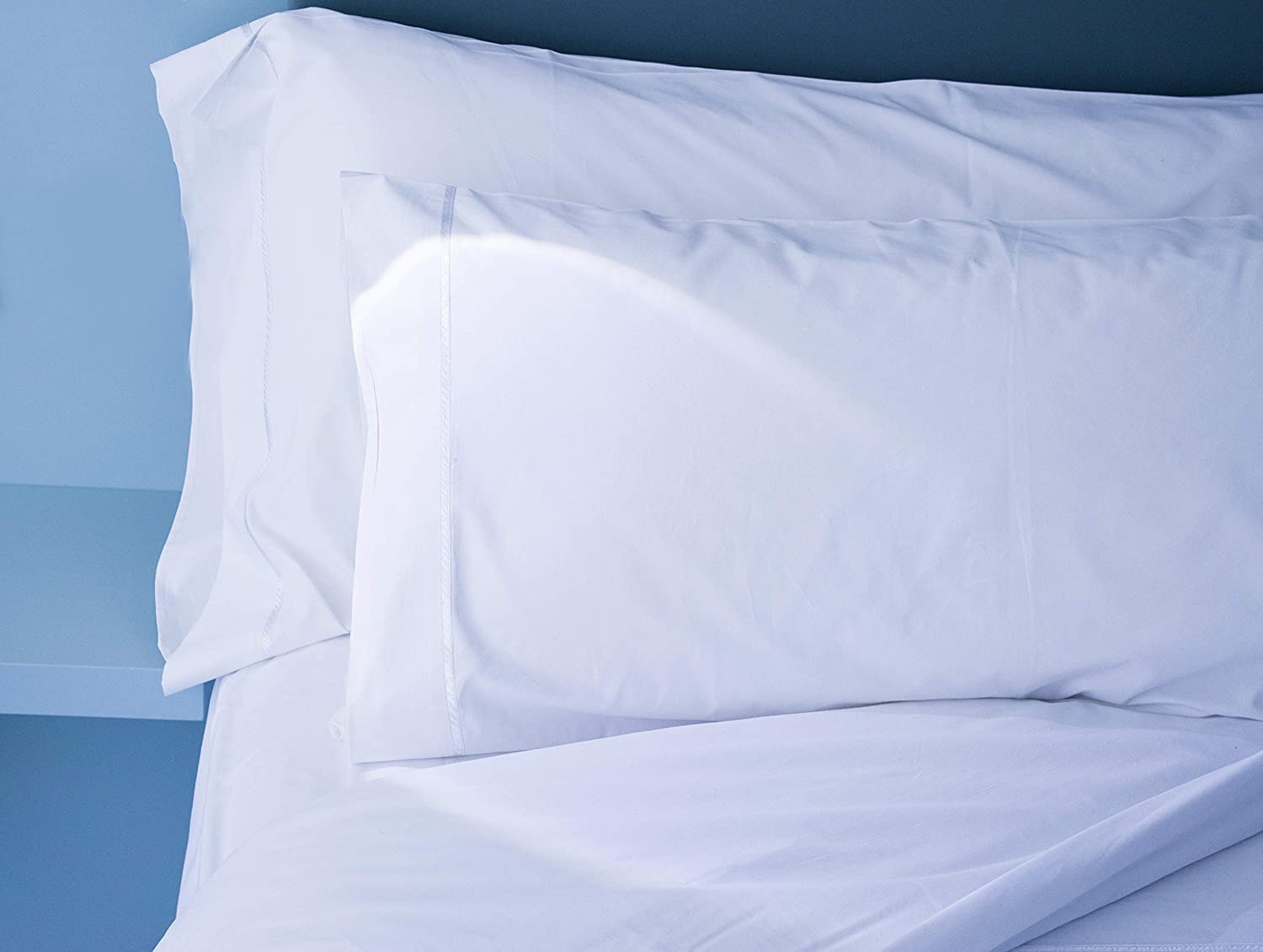 """1-pc /""""a/"""" grade economy pillow cases 20/""""x30 white 130 thread count hotel"""