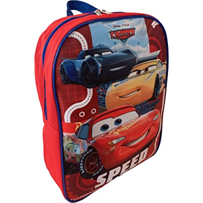 "Cars Lighting McQueen 15"" School Bag Backpack 