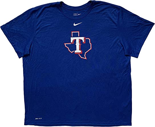 Amazon Com Nike Texas Rangers Mlb Men S T Shirts Dri Fit Polyester Short Sleeve Crew Neck T Shirt Xxx Large Rush Blue 035455 Clothing
