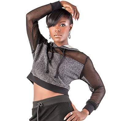 3b311ee990c9b Poetic Justice Curvy Women's Black French Terry Mesh Long Sleeve Pullover  Hoodie Size Medium