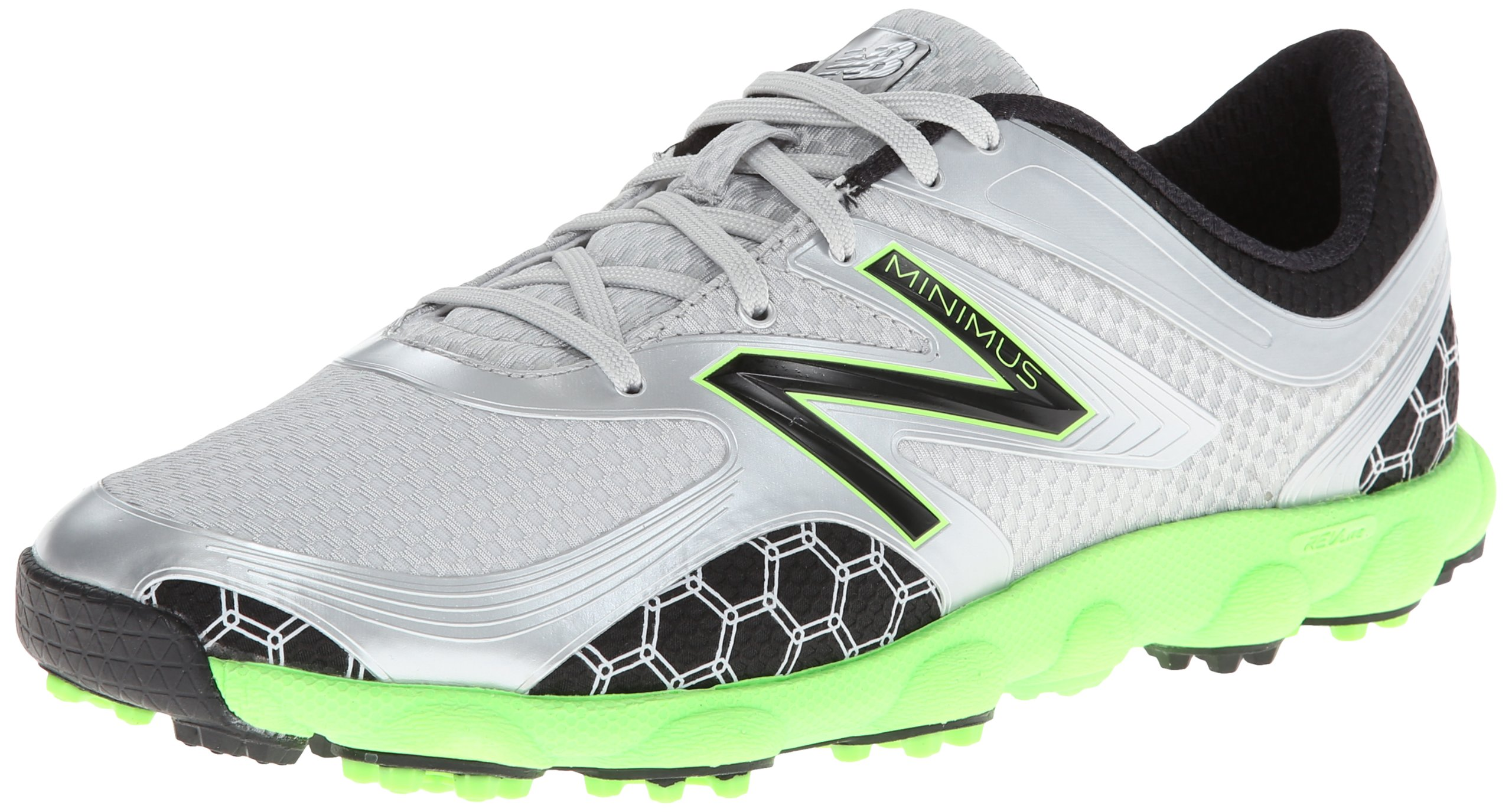 New Balance Men's Minimus Sport Golf Shoe,Green/Grey,10 D US