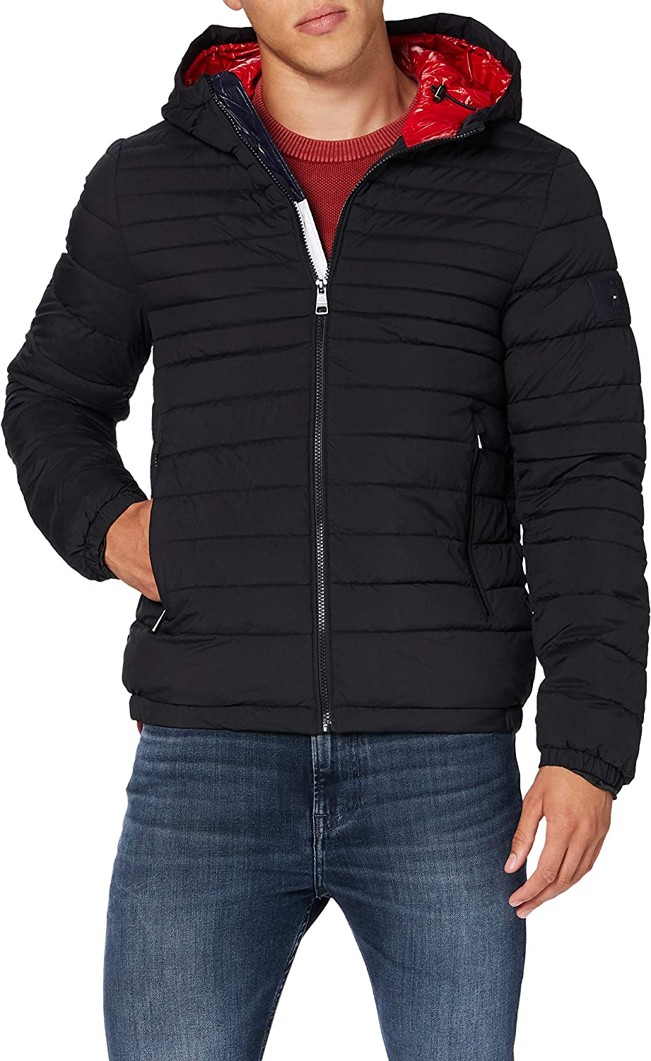 Tommy Hilfiger Quilted Hooded Jacket Chaqueta bomber para Hombre