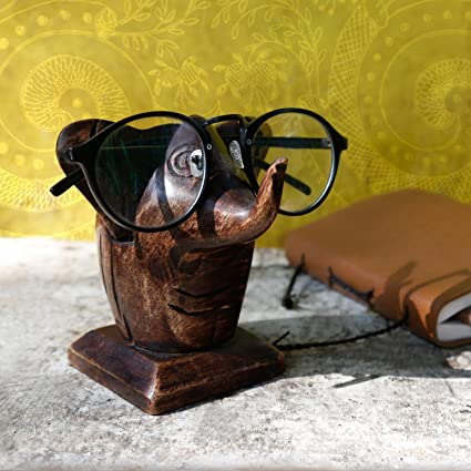 f09253a3f9 Buy storeindya Wooden Elephant Shaped Eyeglass Holder Online at Low Prices  in India - Amazon.in