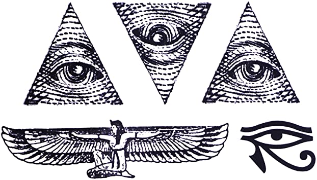 COKOHAPPY Temporales Tatuaje (Conjunto 2) Egipto Ojo Horus ...