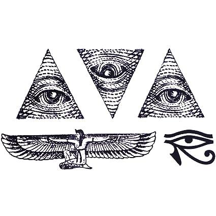 COKOHAPPY Temporales Tatuaje (Conjunto 2) Egipto Ojo Horus Tribal ...