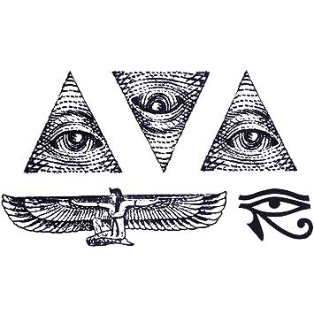 Cokohappy Temporaire Tatouage Ensemble 2 Egypte Egyptien œil