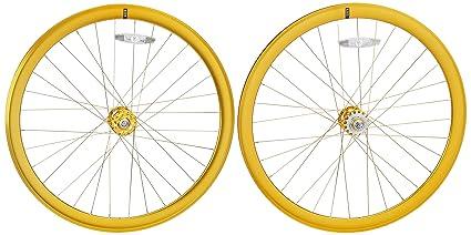 State Bicycle Fixed Gear Components - Rueda para bicicletas, color oro, talla 700 C