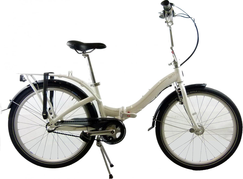 Tern Bicicleta Plegable Castro D3I 24 3 G RH 35 cm en White/Brown ...