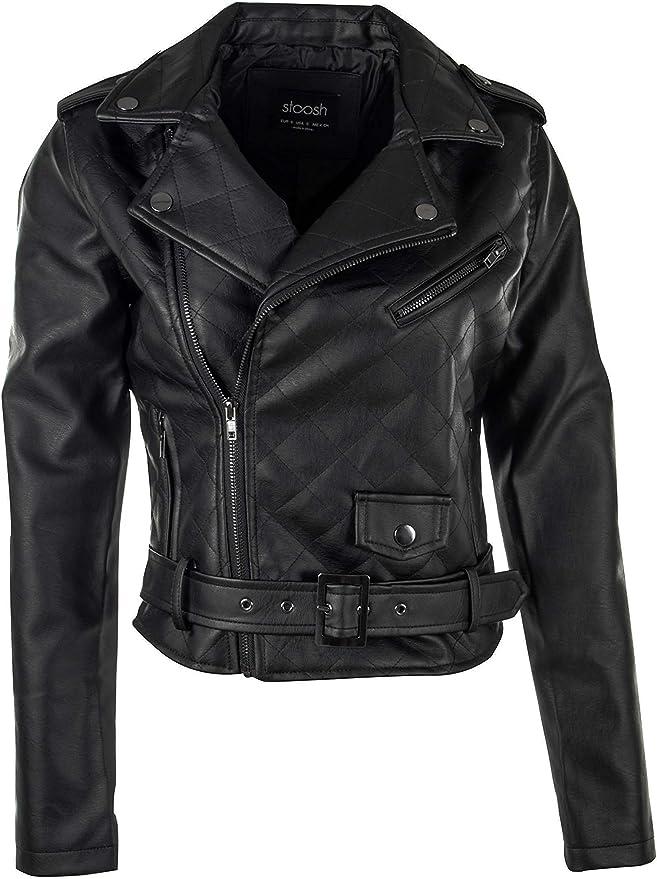 Girls Jacket Zip Biker New Look Leather Look Crop Coat Kids 9 to 15 Years