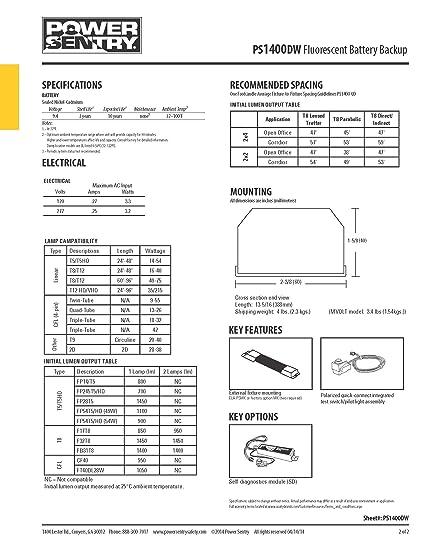 Lithonia Lighting PS1400DW M8 Power Sentry 1400 Lumen Quick ... on