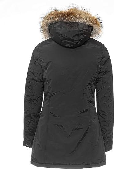 Details zu Damen Arctic Parka Mantel Echtfell Winter Jacke MATOGLA 7602 Gr. XL schwarz !