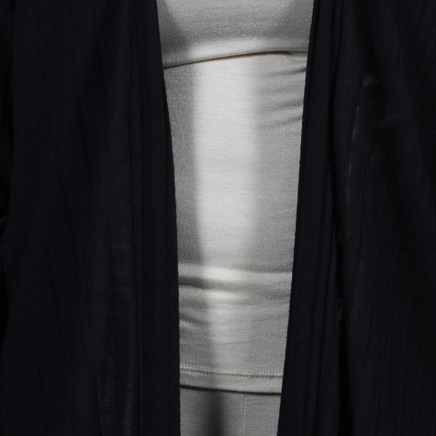 Sizes S-3XL 24seven Comfort Apparel Maternity Clothes for Women Long Sleeve Open Front Ribbed Cardigan Made in USA