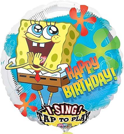 """Amazon.com: 28"""" sing-a-tune Cumpleaños de Bob Esponja ..."""