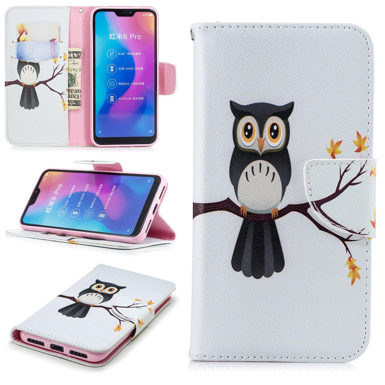 BONROY Xiaomi Mi A2 Lite/Xiaomi Redmi 6 Pro Hü lle, Handyhü lle Tasche Leder Flip Case Brieftasche Etui Schutzhü lle fü r Xiaomi Mi A2 Lite/Xiaomi Redmi 6 Pro-Lä cheln Xiaomi Mi A2 Lite / Xiaomi Redmi 6 Pro