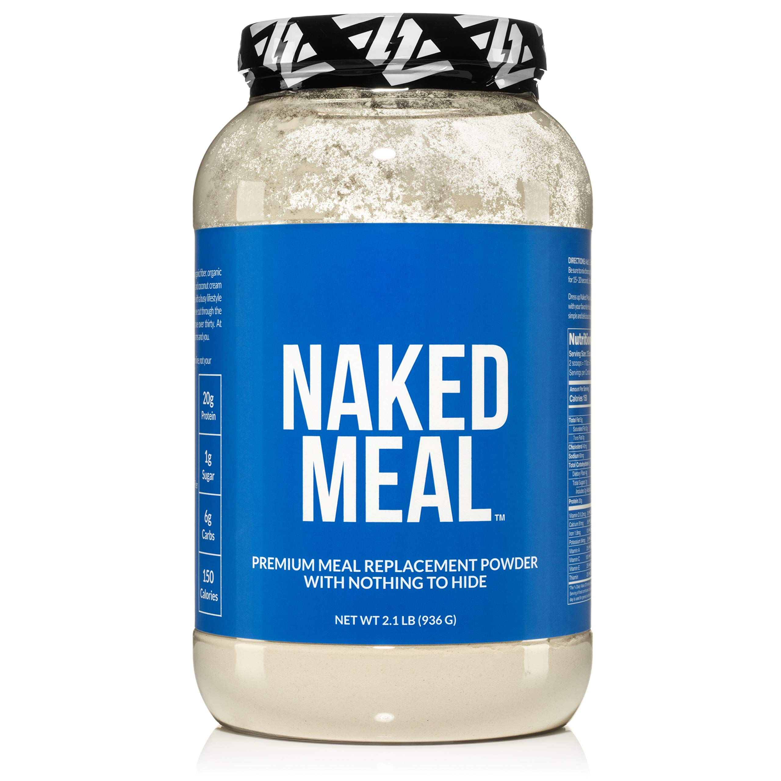 Naked Meal - Healthy Meal Replacement Shakes for Weight Loss or Workout Recovery - Low Carb, Keto Friendly, No Soy, GMO or Gluten - Pre & Probiotics for Gut Health - 2.1 LBS, 26 Servings by NAKED nutrition