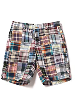 Patchwork Madras Shorts 113-37-0008: Multi