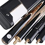 """Stylish 57"""" Handmade 3/4 Piece SNOOKER CUE - CASE - 2 EXTENSIONS - Fast FREE Shipping - JY2"""