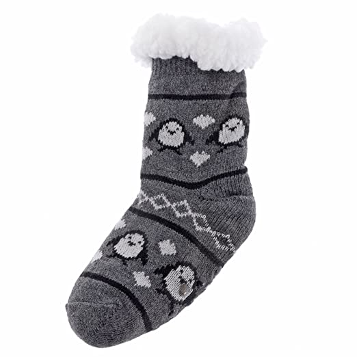 Amazon.com: Wanted Girls 4-Pack Thermal Slipper Socks (Snow Season, One Size): Clothing