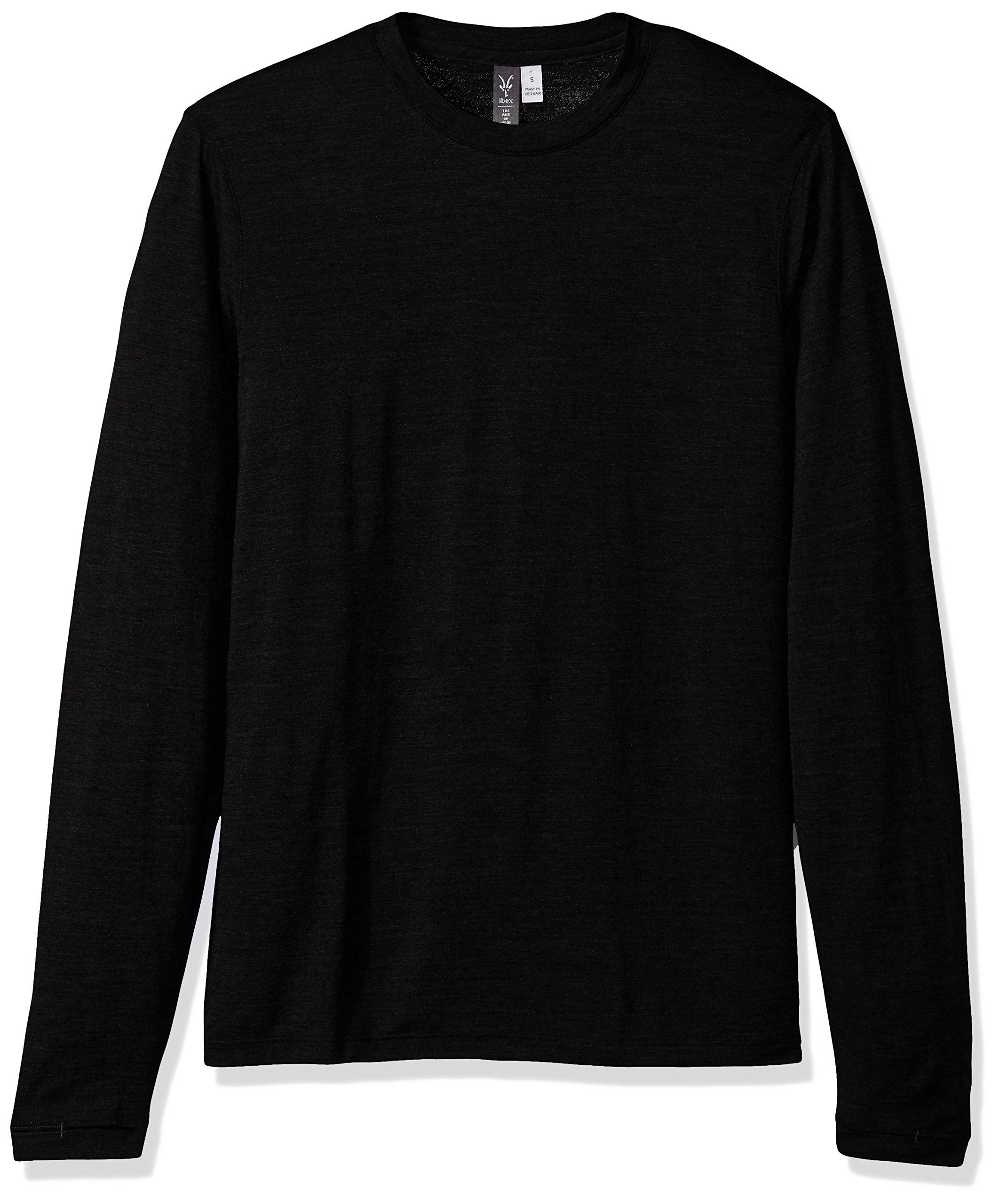 Ibex Outdoor Clothing Merino Wool Essential Crew T-Shirt, Black, Large