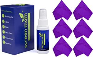 Screen Mom 2oz Screen Cleaner Kit with 6 Pack Purple Cloths Bundle