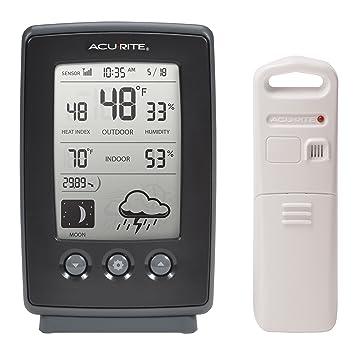 AcuRite 00829 Digital estación meteorológica con previsión/Temperatura/Reloj/Fases de la Luna: Amazon.es: Hogar