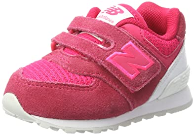 New Balance Unisex-Kinder Sneaker, Pink (Pink/Grey), 30.5 EU (12 UK Child)