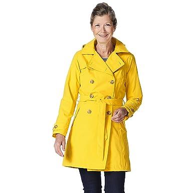 299519d68b621 Amazon.com: Happy Rainy Days Women's Classic Trench Coat with ...
