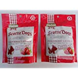 Gimbal's Scottie Dogs Strawberry Licorice 6 oz - Pack of 2 Bags