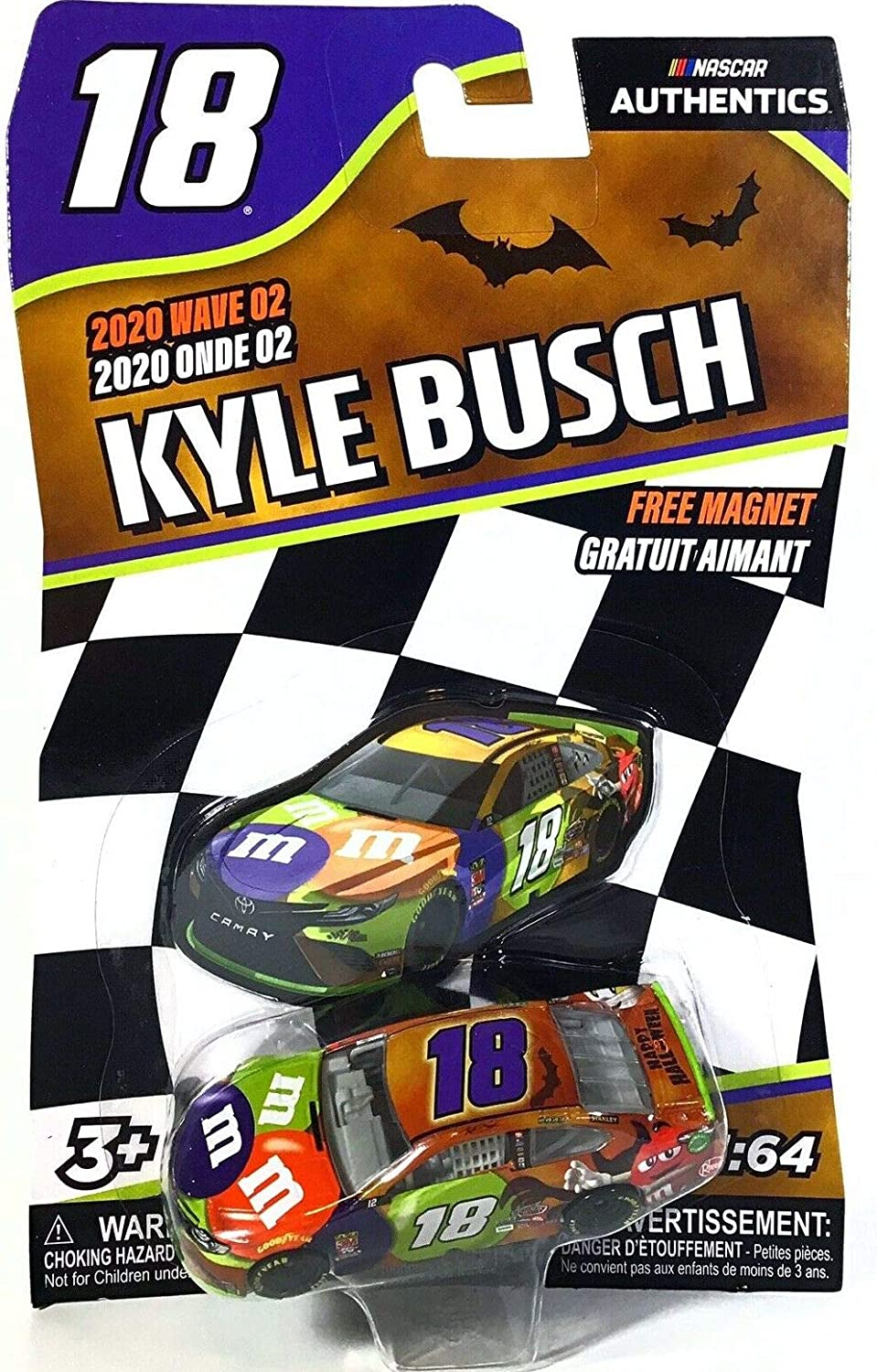 Kyle Busch Halloween 2020 Amazon.com: kingsdugout Kyle Busch #18 NASCAR Authentics 2020