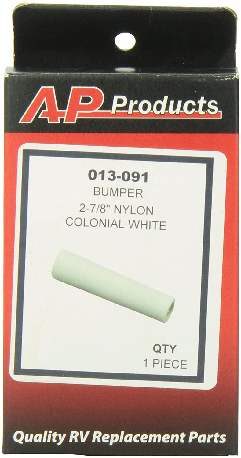 Piece of 1 AP Products 013-091 2-7//8 Colonial White Nylon Bumper
