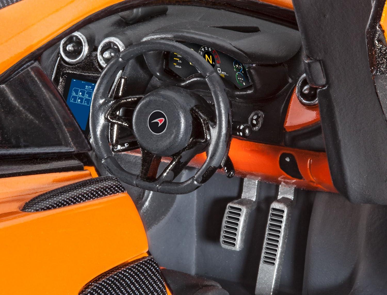 Revell Maqueta de Auto 1: 24 - McLaren 570s en escala 1: 24, nivel 3, réplica exacta con muchos detalles, Juego, Model con base accesorios, ...