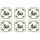 Pimpernel Holly & The Ivy Coasters - Set of 6