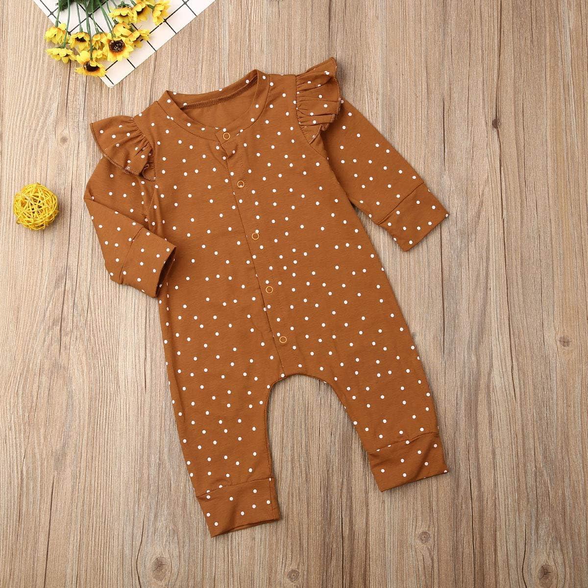 Strampler Einteiler Jumpsuit Outfits Baby Fiomva 2-teiliges Herbstkleidungs-Set f/ür Neugeborene M/ädchen