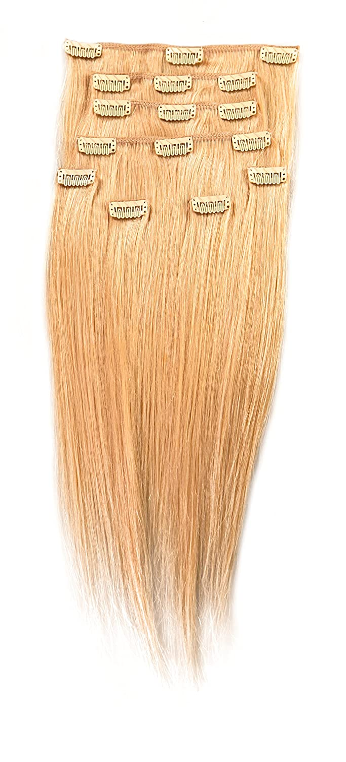 Amazon Donna Bella Full Head Human Clip In Hair Extensions 16