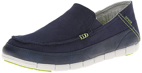 011165b5d Image Unavailable. Image not available for. Colour  crocs Men s Stretch  Sole Loafer M Navy and Pearl White ...
