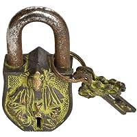 Kuan Yin Temple Lock - Brass and Iron