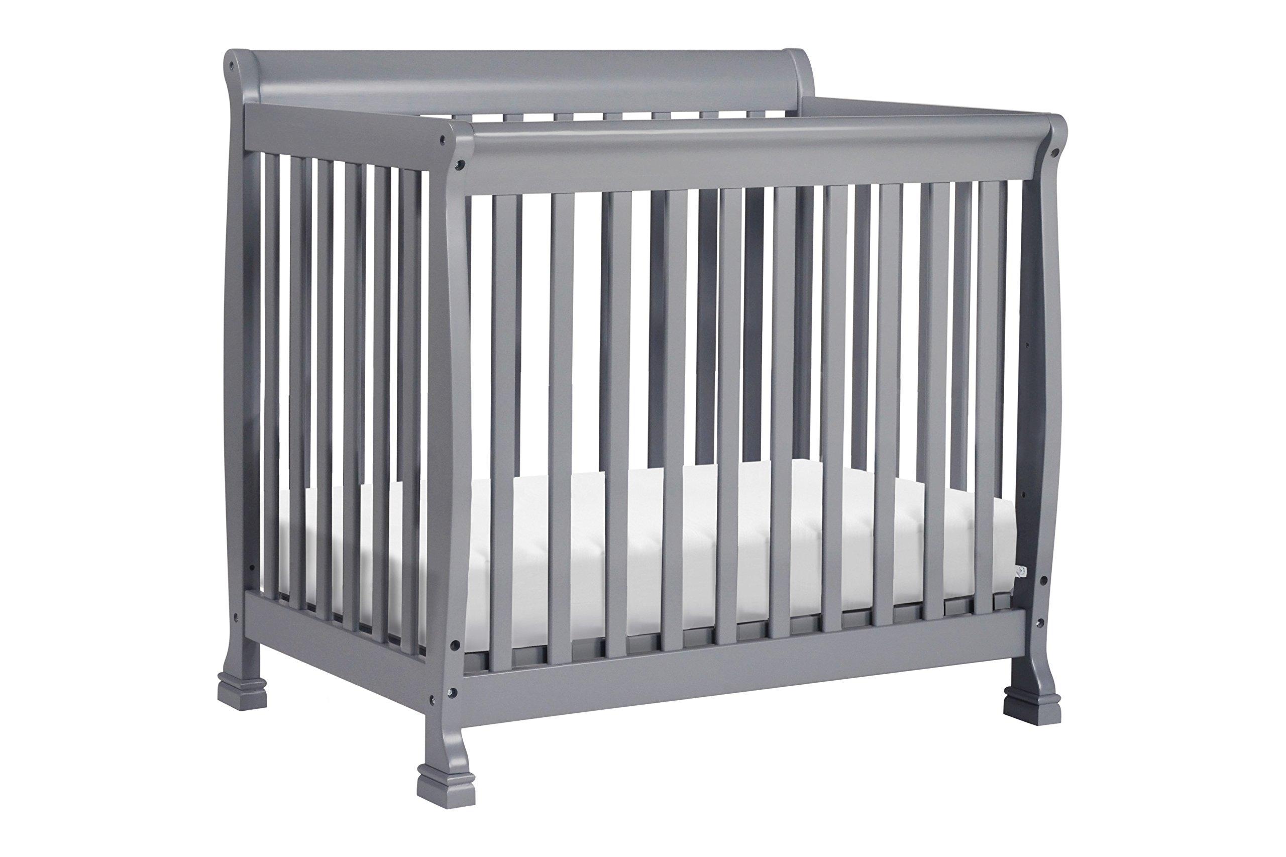 DaVinci Kalani 2-in-1 Mini Crib and Twin Bed, Grey