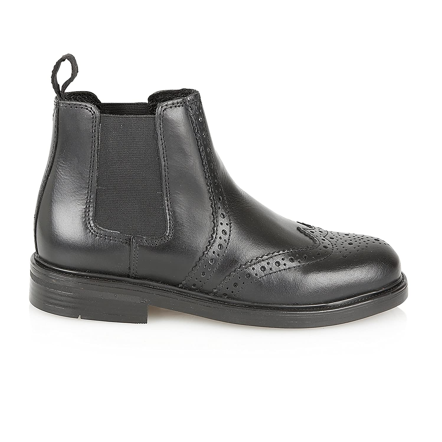 Private Brand Boys Chelsea Ankle Boots Strong Souls School Real Leather  Brogue Derby Shoes Pull On Size  Amazon.co.uk  Shoes   Bags d2d38d4bb