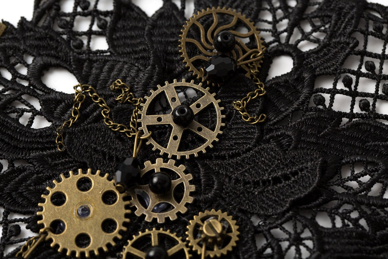 KOGOGO Steampunk Lace Bracelet Lolita Wrist Cuff with Gears 5