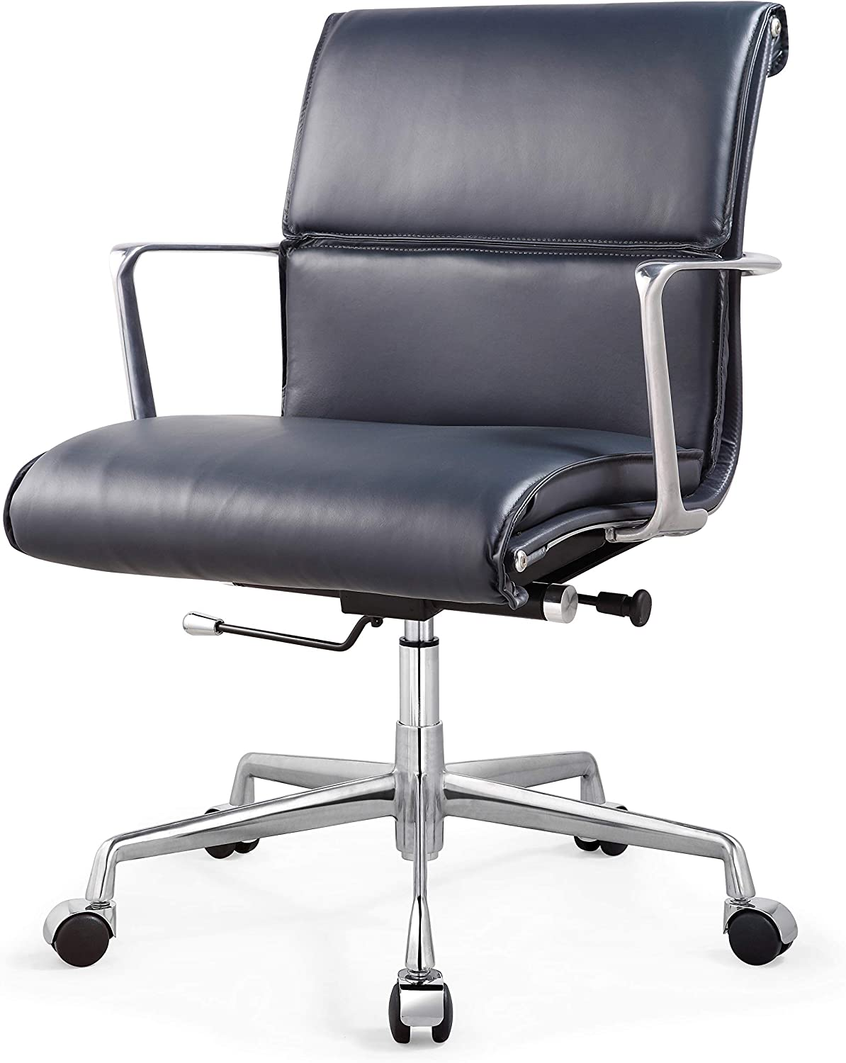 MEELANO M347 Home Office Chair, Navy Blue