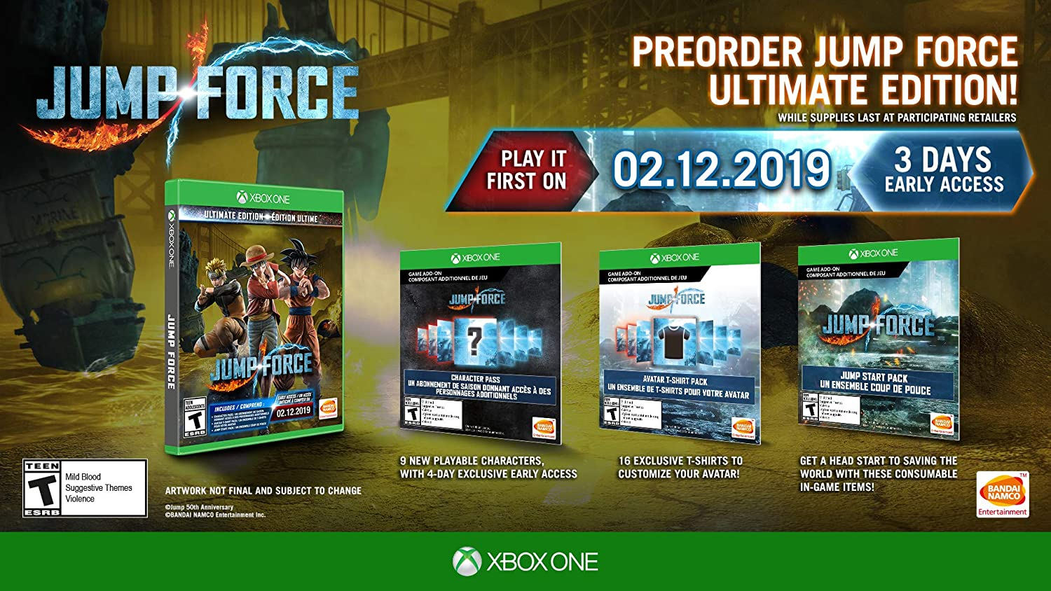 Amazon.com: Jump Force - Xbox One Ultimate Edition: Bandai ...
