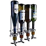4 Bottle Wall Mounted Liquor Dispenser Bar Butler Bracket Solo Optic Spirit Wine Beer Alcohol Bottle Beverage Stand…