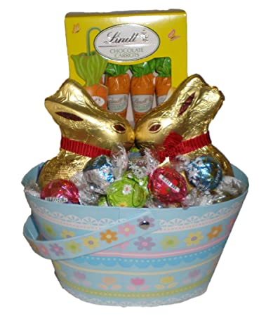 Amazon happy easter lindt chocolate truffles bunny and happy easter lindt chocolate truffles bunnyand carrots gift basket negle Choice Image