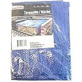 Tool Bench Hardware 4' X 6' Blue Tarp Tarpaulin
