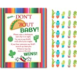 Don't Taco Bout A Baby Don't Say Baby Shower Game Mini Cactus Clothespins for 30 Players For Fiesta Theme Baby Shower Sprinkl