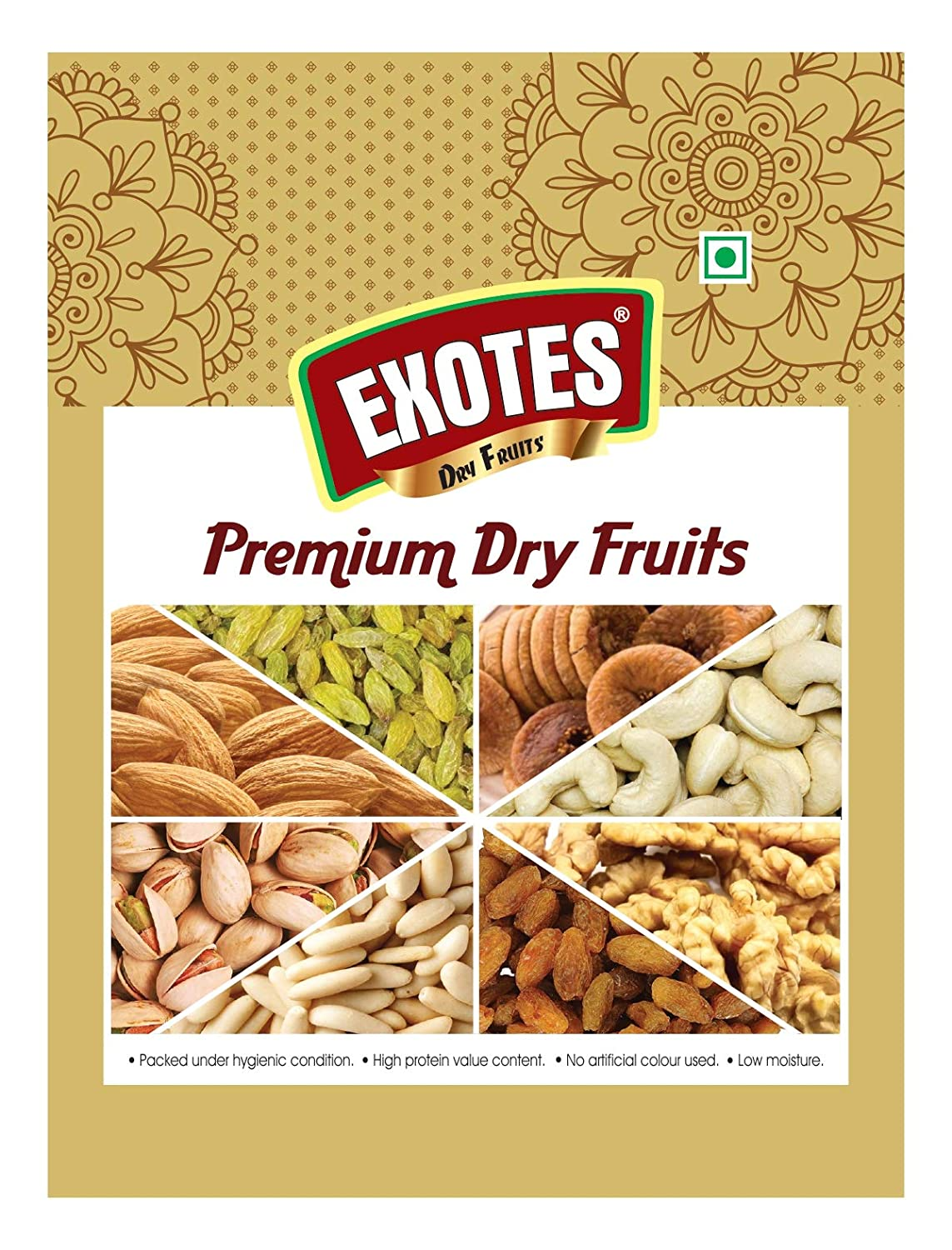 EXOTES Pista Roasted & Salted Vacuum Packed Royal Pouch, 500 g
