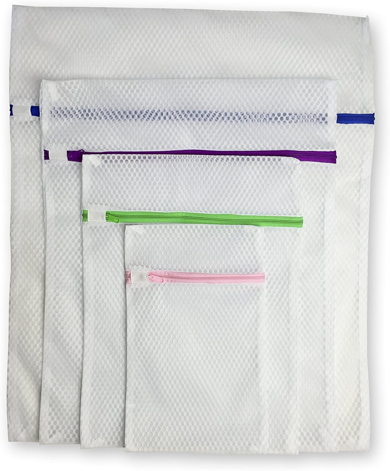 Laundry Shield Lingerie Bags for Laundry (Set of 4) - Bonus Ebook with Purchase - Extend and Protect the Life of Your Clothes with Our Mesh Delicates Laundry Bags