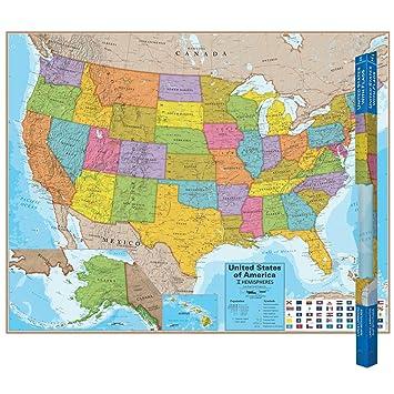 amazon hemispheres エミスフェール アメリカ 地図 英語表記