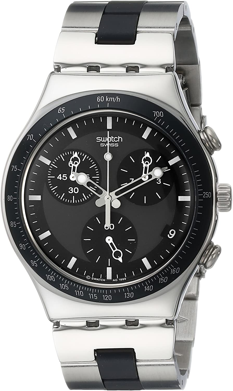 Swatch Core Collection Windfall YCS410GX - Reloj de Caballero de Cuarzo, Correa de Acero Inoxidable Color Plata