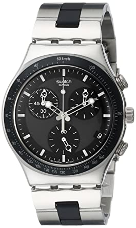 6fcc3df63 Amazon.com: Swatch Men's YCS410GX Windfall Chronograph Silver-Tone ...